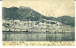 1901 SALERNO Panorama dal mare con il castello *Cartolina FP VG