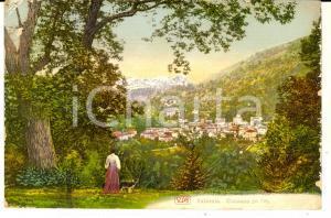 1914 CIVIASCO (VC) Veduta del paese nella VALSESIA *Cartolina illustrata FP VG