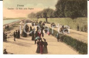 1915 ca FIRENZE CASCINE - Il viale della Regina *Cartolina ANIMATA FP NV