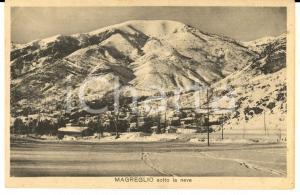 1930 ca MAGREGLIO (CO)  Panorama sotto la neve *Cartolina postale FP NV