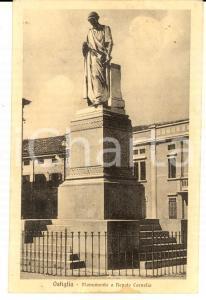 1932 OSTIGLIA (MN) Monumento a NEPOTE CORNELIO *Cartolina FP VG