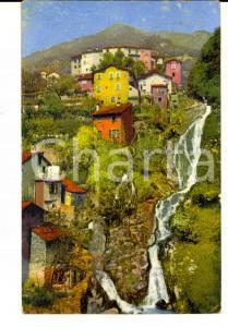 1916 NESSO (CO) Panorama dell'abitato sul Lago di Como *Cartolina FP VG