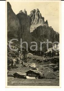 1928 TORRI DI VAJOLET dal RIFUGIO GARDECCIA *Cartolina postale VINTAGE