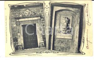1904 SALUZZO (CN) Esterno di Casa CAVASSA con ritratto *Cartolina FP VG