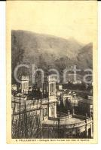 1930 ca SAN PELLEGRINO TERME Dettaglio GRAN KURSAAL con SPETTINO Cartolina FP VG
