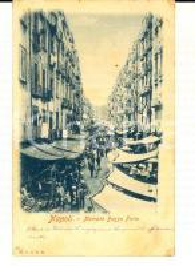 1903 NAPOLI Mercato Basso Porto *Cartolina ANIMATISSIMA VINTAGE FP VG
