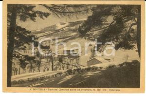 1930 ca LA SANTONA (MO) Veduta panoramica innevata *Cartolina postale FP NV