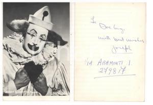 1971 I PAGLIACCI Ritratto del tenore Josef GABRIELS *Foto seriale con AUTOGRAFO