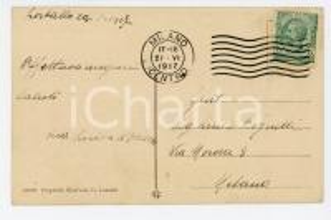 1917 ORTA (NO) Cappella del SACRO MONTE *Cartolina nobile Luisa DI OSASCO FP VG