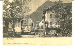 1906 DORF TIROL/ TIROLO  Veduta del centro del paese *Cartolina VINTAGE FP VG