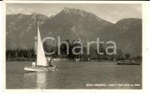 1954 LEVICO (TN) Veduta del lago con la CIMA PIZZO *Cartolina FP VG