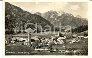 1940 ca CAMPOROSSO (UD) Veduta del paesino e della VAL CANALE *Cartolina FP VG