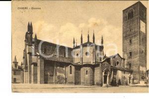 1934 CHIERI (TO) Veduta del Duomo *Cartolina VINTAGE FP VG