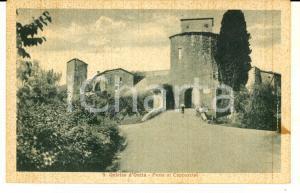 1940 ca SAN QUIRICO D'ORCIA (SI) Porta ai Cappuccini *Cartolina ANIMATA FP