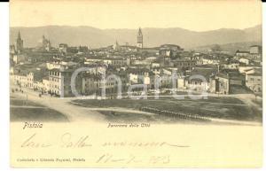 1903 PISTOIA Panorama della città *Cartolina postale VINTAGE FP VG