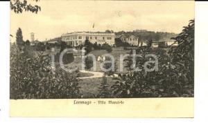1913 BODIO LOMNAGO (VA) Veduta di villa MANZI-FE *Cartolina FP VG