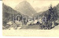 1909 TARVISIO (UD) Panorama del paese *Cartolina VINTAGE FP VG