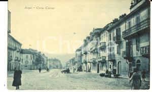 1910 ca ACQUI TERME Corso CAVOUR *Cartolina ANIMATA FP NV