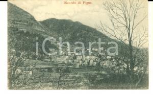 1900 ca PIGNA (IM) Veduta panoramica del paese *Cartolina postale FP NV
