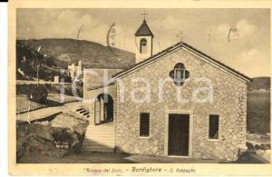 1954 BORDIGHERA (IM) Veduta di SANT'AMPEGLIO *Cartolina postale FP VG