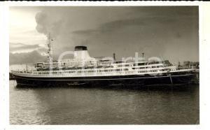 1950 ca MARINA ITALIANA Nave passeggeri all'uscita da un porto *Foto cartolina