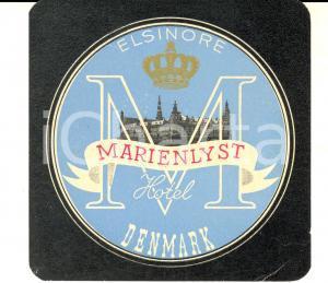 1950 ca HELSINGOR (DENMARK) Marienlyst Hotel *Etichetta pubblicitaria 12x12 cm
