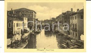 1934 CHIOGGIA (VE) Barche al Canal Vena *Cartolina ANIMATA FP VG