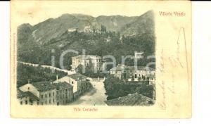 1900 ca VITTORIO VENETO Veduta di VILLA COSTANTINI *Cartolina ANIMATA FP VG