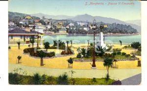 1910 SANTA MARGHERITA LIGURE Veduta di piazza Vittorio Emanuele *Cartolina FP VG