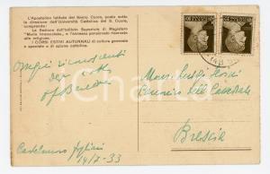 1933 CASTELNUOVO FOGLIANI Istituto del SACRO CUORE *Cartolina padre BERETTA