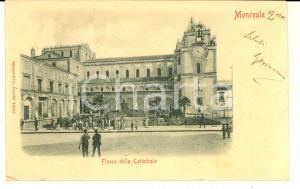 1901 MONREALE (PA) Fianco della Cattedrale *Cartolina ANIMATA FP VG