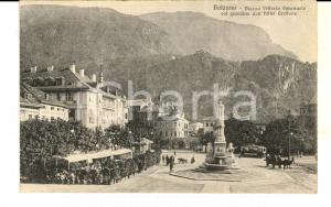 1910 ca BOLZANO Piazza Vittorio Emanuele e giardini HOTEL GRIFFONE *Cartolina