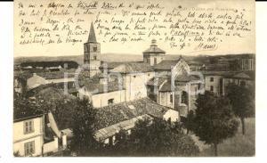 1937 ACQUI TERME (AL) Duomo con panorama *Cartolina postale FP VG