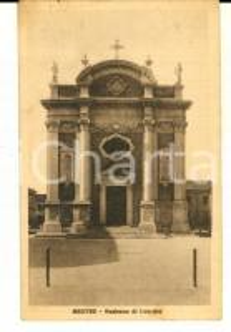 1930 ca MESTRE (VE) Chiesa della Madonna di Lourdes *Cartolina VINTAGE FP