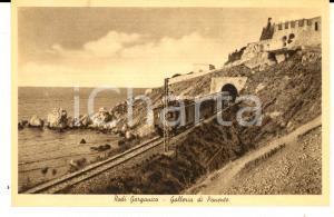 1940 ca RODI GARGANICO (FG) Galleria di ponente *Cartolina animata treno FP NV