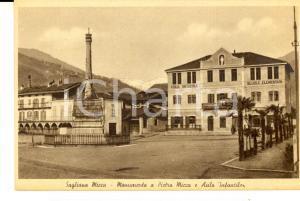 1930 ca SAGLIANO MICCA Monumento a Pietro MICCA e asilo infantile *Cartolina