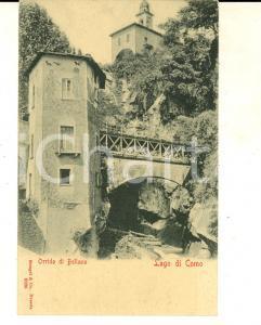 1900 ca BELLANO (LC) Veduta dell'Orrido *Cartolina postale VINTAGE FP NV