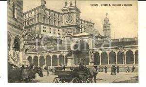 1909 UDINE Loggia S. GIOVANNI e Castello *Cartolina postale FP VG
