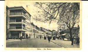 1944 UDINE Veduta di via ZANON con mercatino *Cartolina ANIMATA FP VG