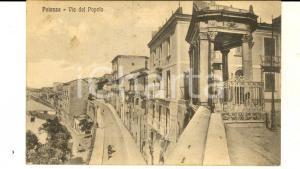 1930 POTENZA Veduta di via del Popolo *Cartolina ANIMATA FP VG
