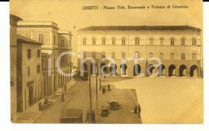 1913 CHIETI Piazza Vittorio Emanuele e Palazzo Giustizia *Cartolina ANIMATA tram