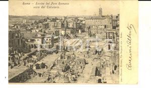 1904 ROMA Rovine del FORO ROMANO viste dal Tabulario *Cartolina FP VG