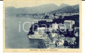 1929 SORRENTO (NA) Panorama da Capodimonte *Cartolina postale FP VG