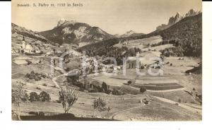 1930 ca SAN PIETRO DI FUNES (BZ) Panorama con le DOLOMITI *Cartolina FP NV