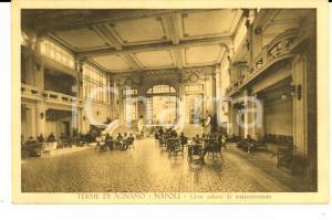 1932 TERME DI AGNANO (NA) Gran salone di trattenimento *Cartolina FP VG