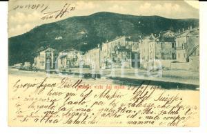 1902 ALASSIO (SV) Panorama della città dal molo *Cartolina postale FP VG