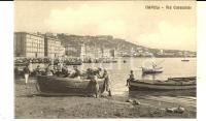 1915 ca NAPOLI Via CARACCIOLO con i pescatori *Cartolina ANIMATA FP NV