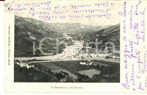 1903 SAN SEBASTIANO CURONE (AL) Panorama del paese *Cartolina postale FP VG