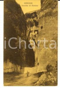1914 SIRACUSA Orecchio di DIONISIO *Cartolina VINTAGE ANIMATA FP VG
