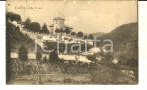 1918 CASELLA (GE) Veduta di VILLA TRUCCO *Cartolina postale RARA FP VG